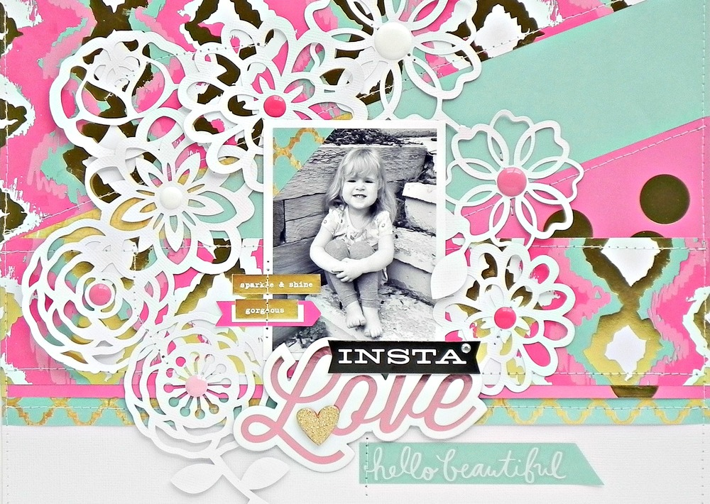 'Insta Love' scrapbook page by mambi Design Team member Stephanie Buice | me & my BIG ideas