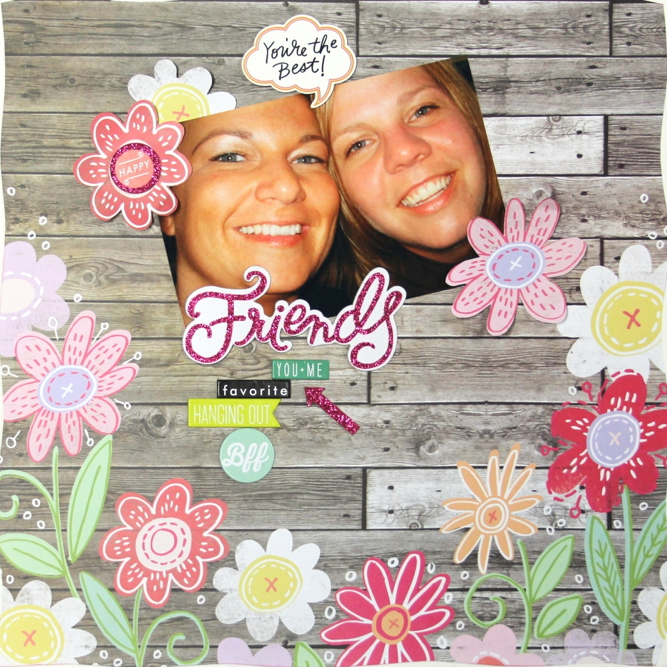 'Friends' scrapbook page using new mambiSHEETS