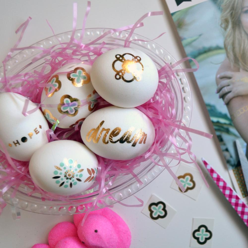 using Fancy Tats™ on Easter eggs