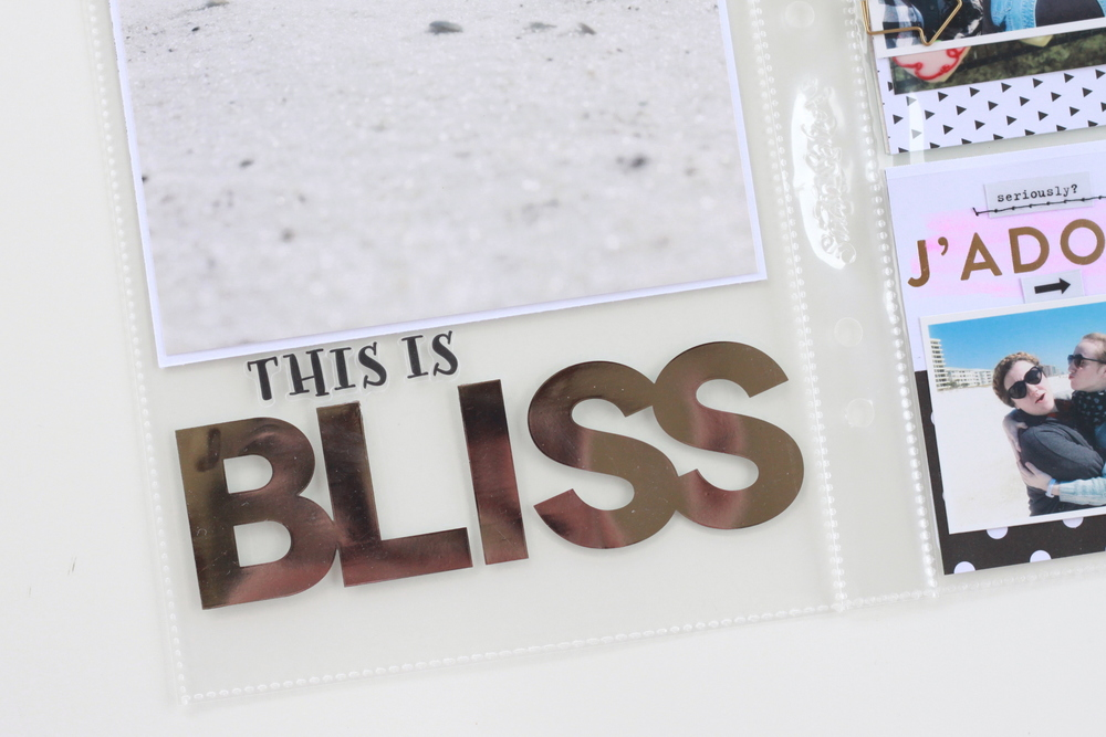 'Bliss Beach' POCKET PAGES™ by mambi Design Team member Heather Adams | me & my BIG ideas