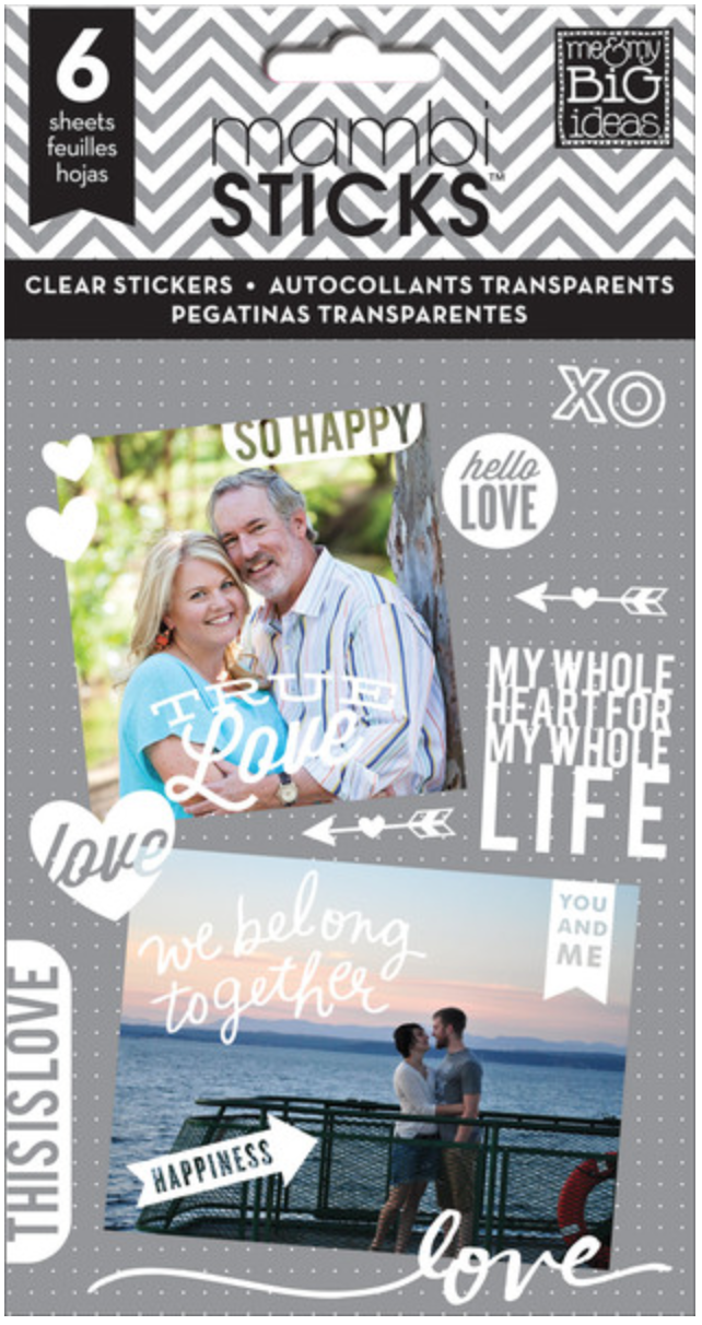 'So Happy' mambiSTICKS clear white sticker pad | me & my BIG ideas