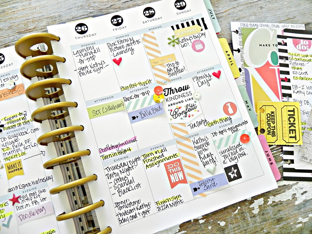 A photoless create 365 happy planner weekly spread by for Happy planner ideas