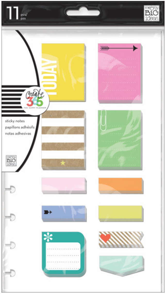 'Happy' sticky notes Create 365™ The Happy Planner™ | me & my BIG ideas