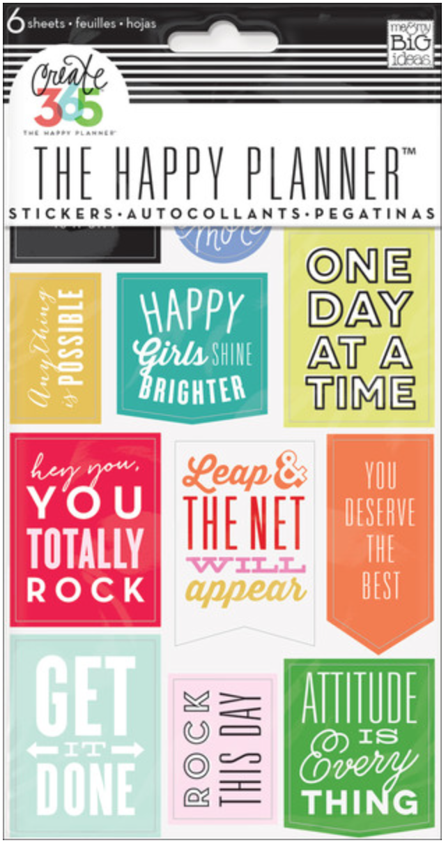 'Get It Done' quotes stickers for Create365™ The Happy Planner™ | me & my BIG ideas