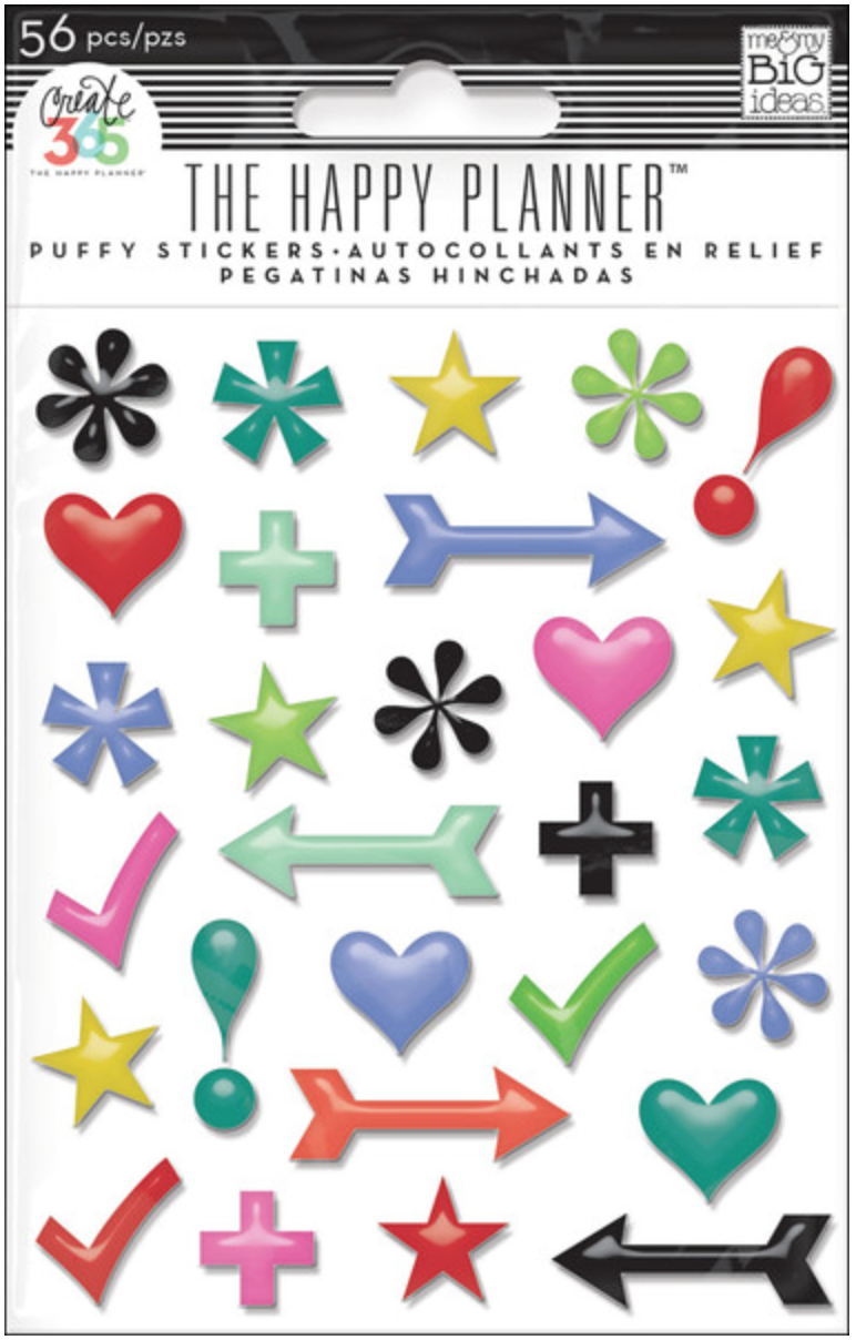 'Icons' puffy stickers Create 365™ The Happy Planner™ | me & my BIG ideas