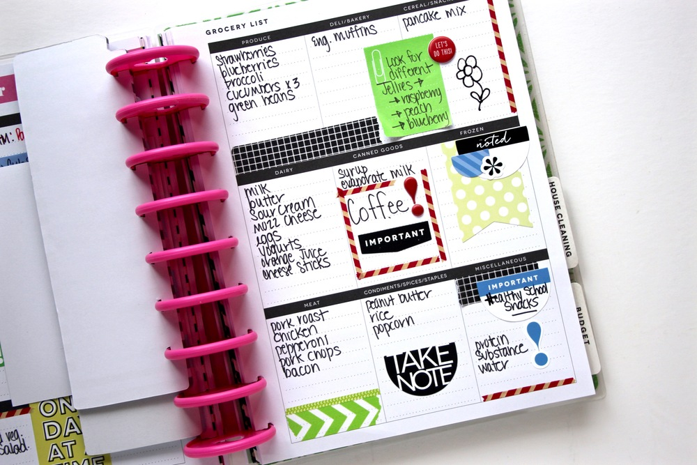 Create 365™ The Happy Planner™ Meal Planner extension pack by mambi Design Team member Mary-Ann Maldonado in action! | me & my BIG ideas