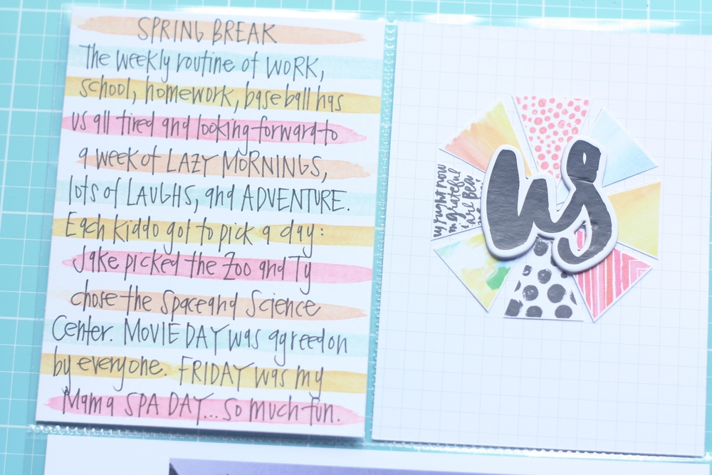 'Spring Break Adventure POCKET PAGES™ layout by mambi Design Team member April Orr | me & my BIG ideas