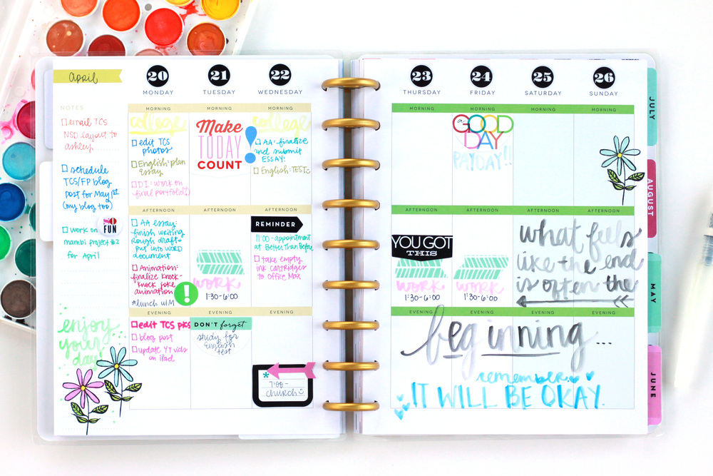 Create 365™ The Happy Planner™ | adding watercolor to her ...