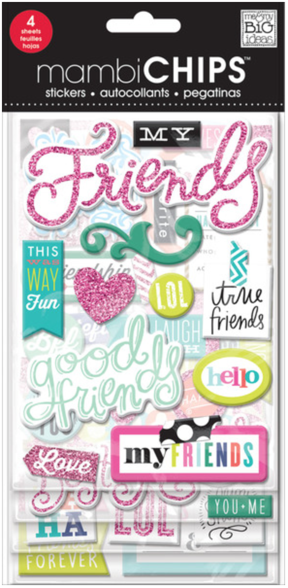 'Good Friends' mambiCHIPS chipboard stickers | me & my BIG ideas
