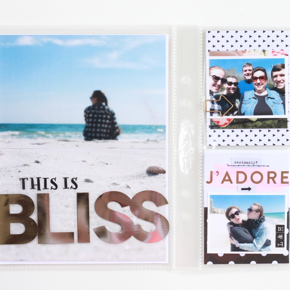 'BLISS' Beach POCKET PAGES™ layout using jumbo mambiSTICK