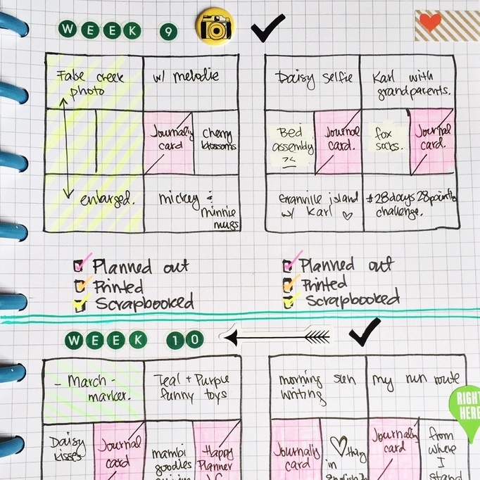 Project Life organization in Happy Planner™