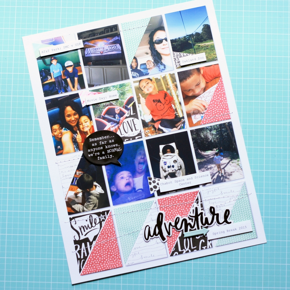 Spring Break Adventure scrapbook layout