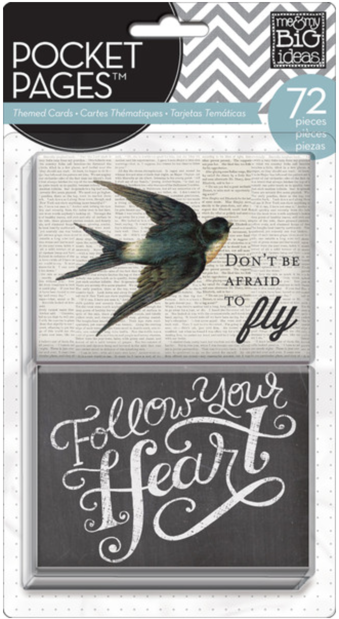 'Don't Be Afraid to Fly' POCKET PAGES™ cards | me & my BIG ideas
