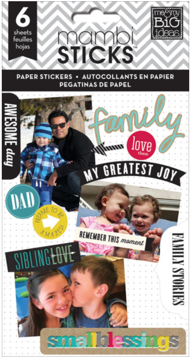 'Family Love' mambiSTICKS sticker pad | me & my BIG ideas