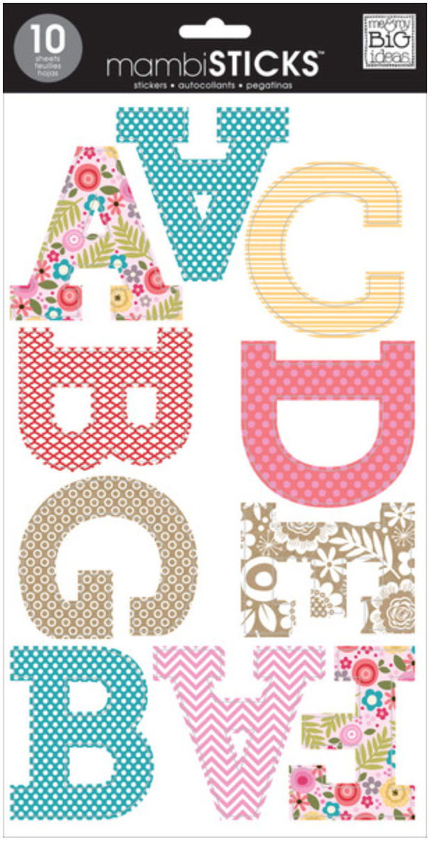 'Spring' Uppercase mambiSTICKS alphabet stickers | me & my BIG ideas