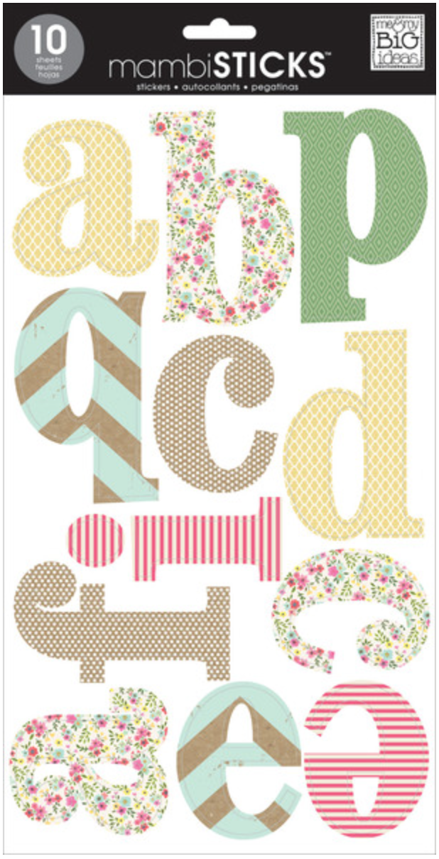 'Sweet Patterns' lowercase mambiSTICKS alphabet stickers | me & my BIG ideas