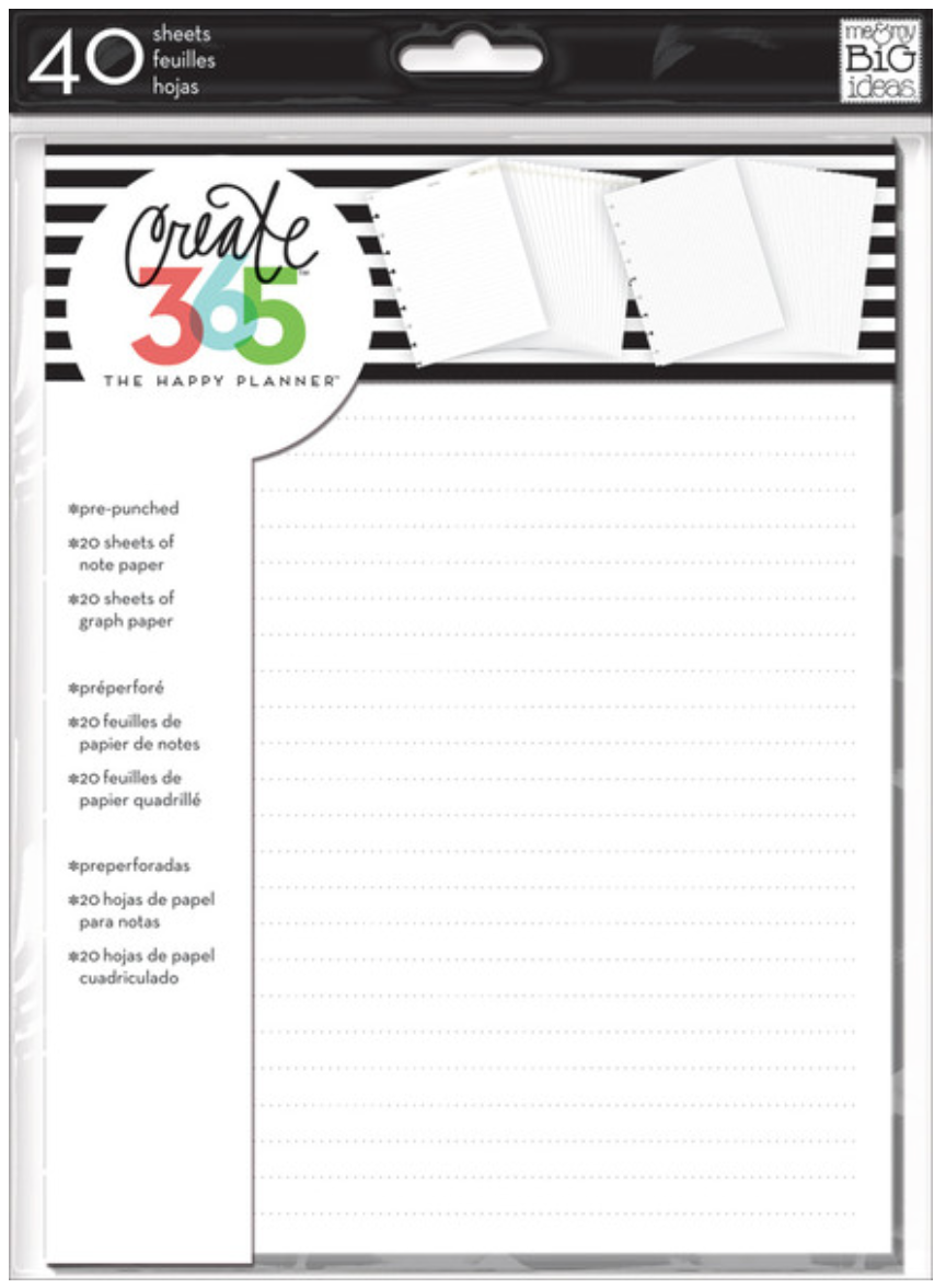 Create 365™ The Happy Planner™ Note & Graph Paper Extension Pack | me & my BIG ideas