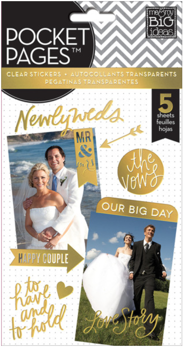 'Our Big Day' gold foil POCKET PAGES™ sticker pad | me & my BIG ideas