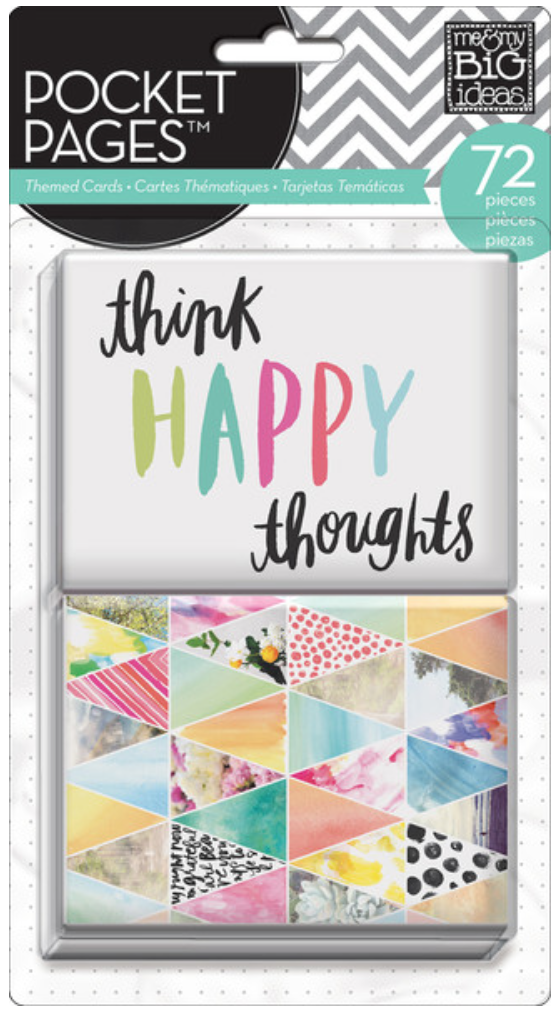 'Think Happy Thoughts' POCKET PAGES™ cards | me & my BIG ideas
