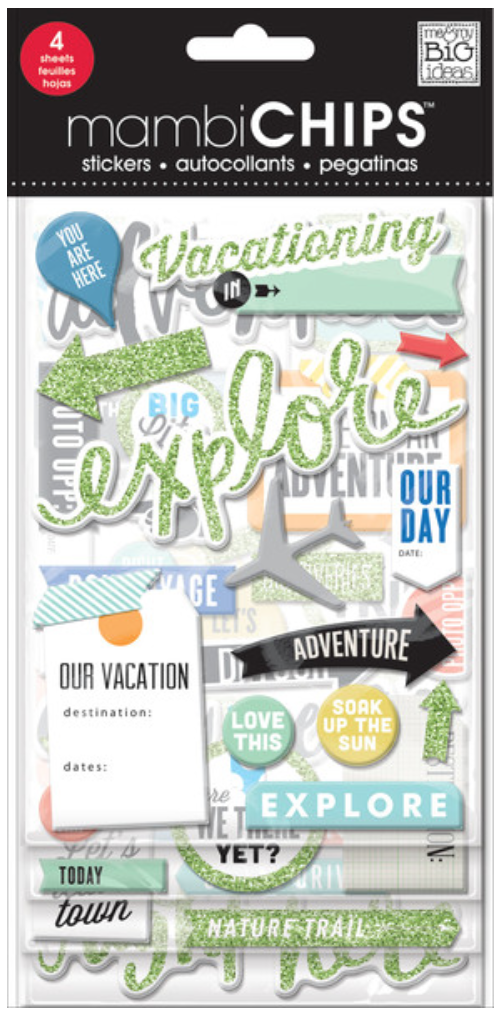 'Vacation' mambiCHIPS chipboard stickers | me & my BIG ideas