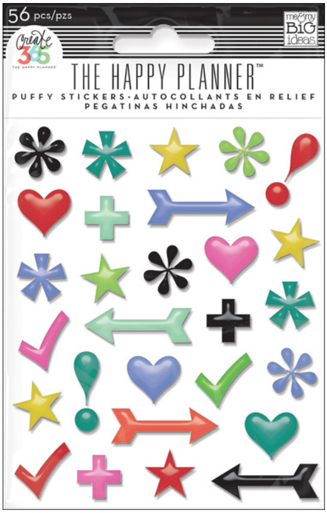 Icons puffy stickers for Create 365™The Happy Planner™ | me & my BIG ideas