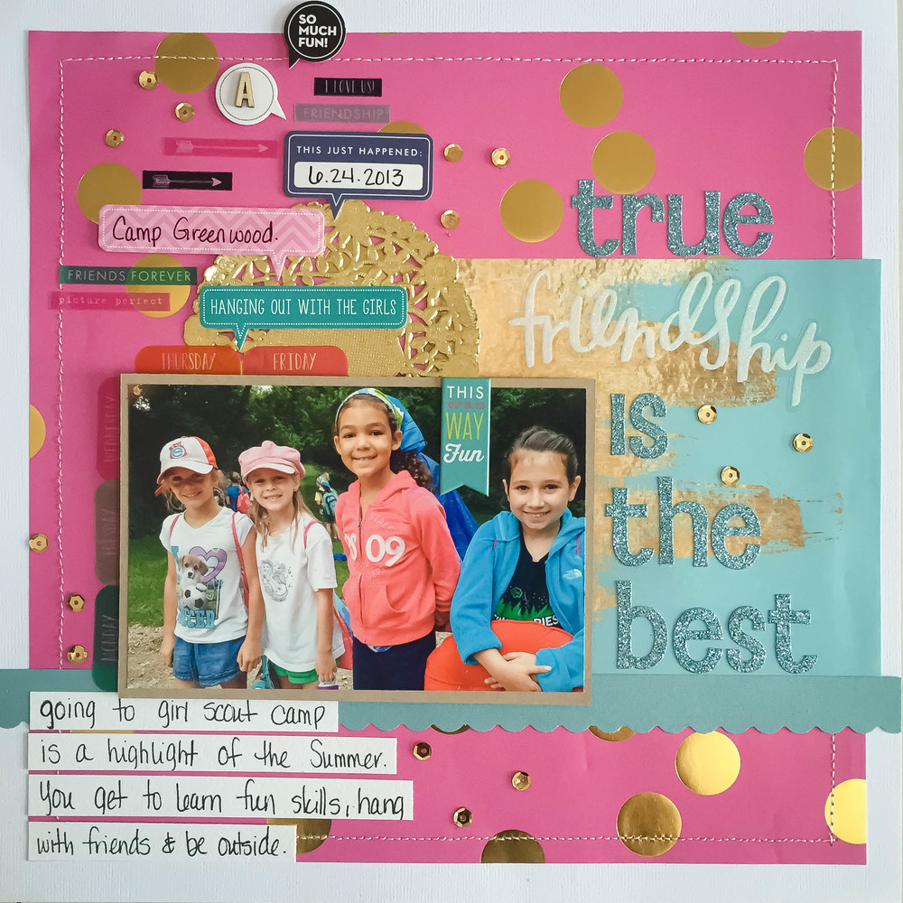 'True Friendship is the Best' scrapbook page my mambi Design Team member Latrice Murphy | me & my BIG ideas