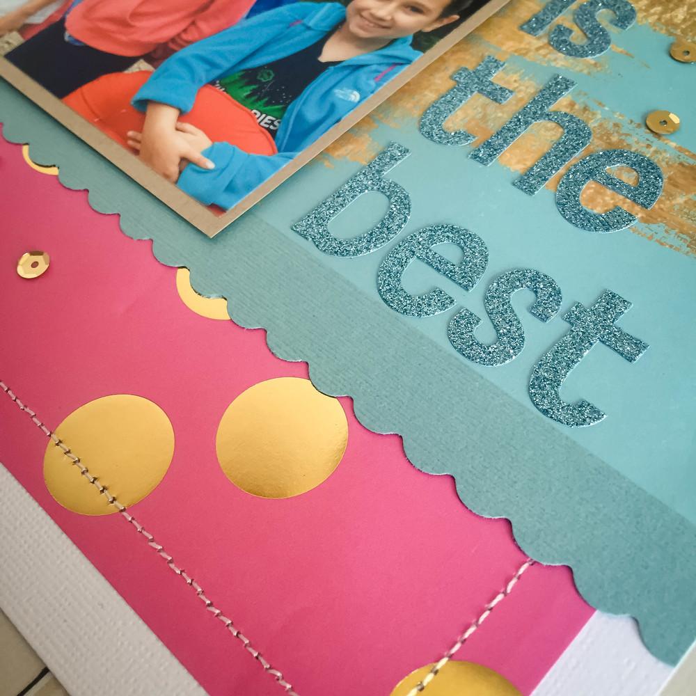 'True Friendship is the Best' scrapbook page my mambi Design Team member Latrice Murphy | me & my BIG ideas