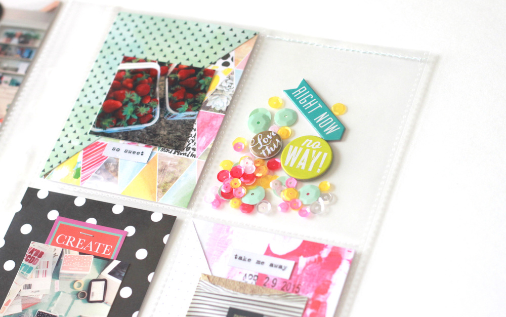POCKET PAGES™ spread by mambi Design Team member Heather Adams equipped with a shaker pocket tutorial | me & my BIG ideas