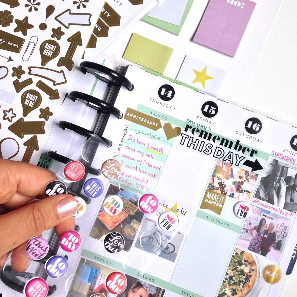 Step 3: add stickers, embellishments, and jots around the photos