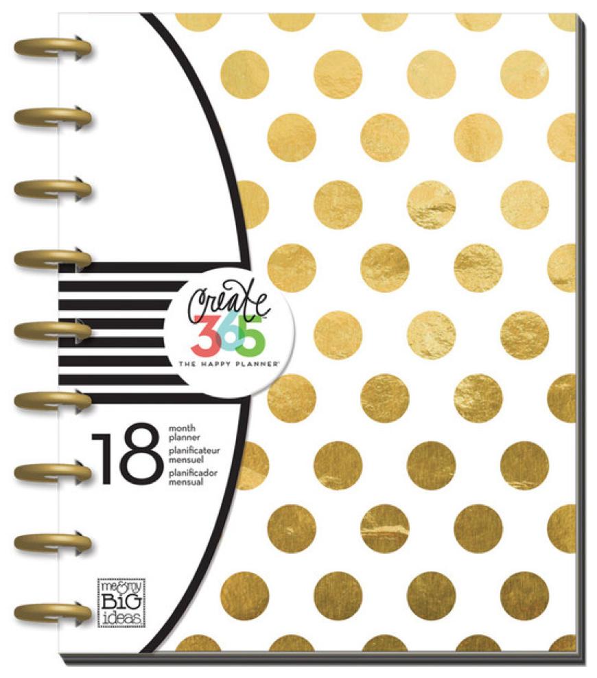 Gold Foil Dots 2015-16 Create 365™ Happy Planner™ | me & my BIG ideas