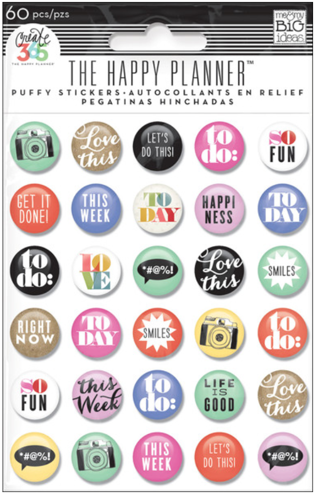 To Do Puffy Stickers for Create 365™ The Happy Planner™ | me & my BIG ideas