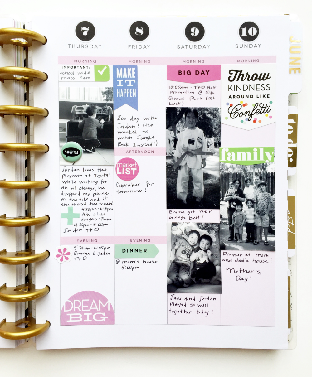 a past May week in mambi Design Team member Theresa Doan's Create 365™ The Happy Planner™ | me & my BIG ideas
