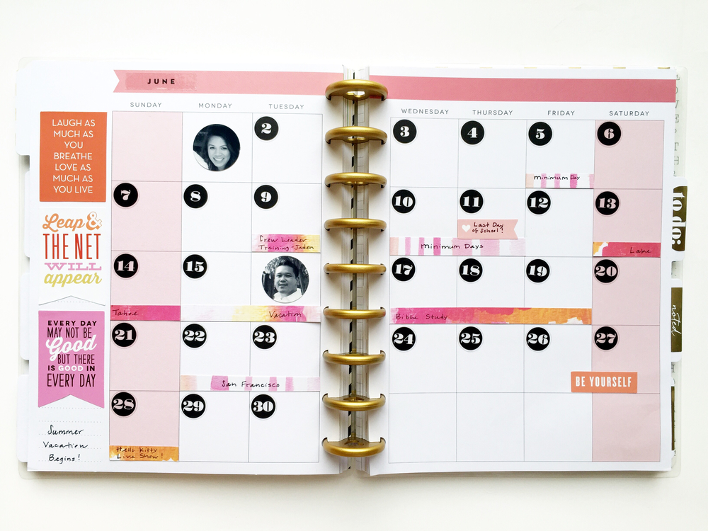 Create 365 the happy planner june setup w mambisheets for Happy planner ideas