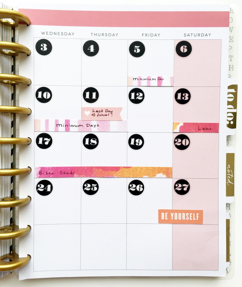 June 2015 setup with mambiSHEETS in Create 365™ The Happy Planner™ of mambi Design Team member Theresa Doan | me & my BIG ideas