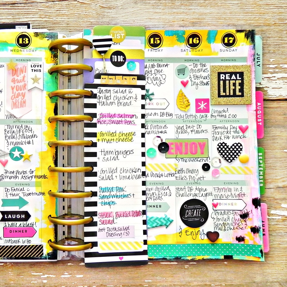 Painty may weekly spread in the happy planner of mambi for Planner design