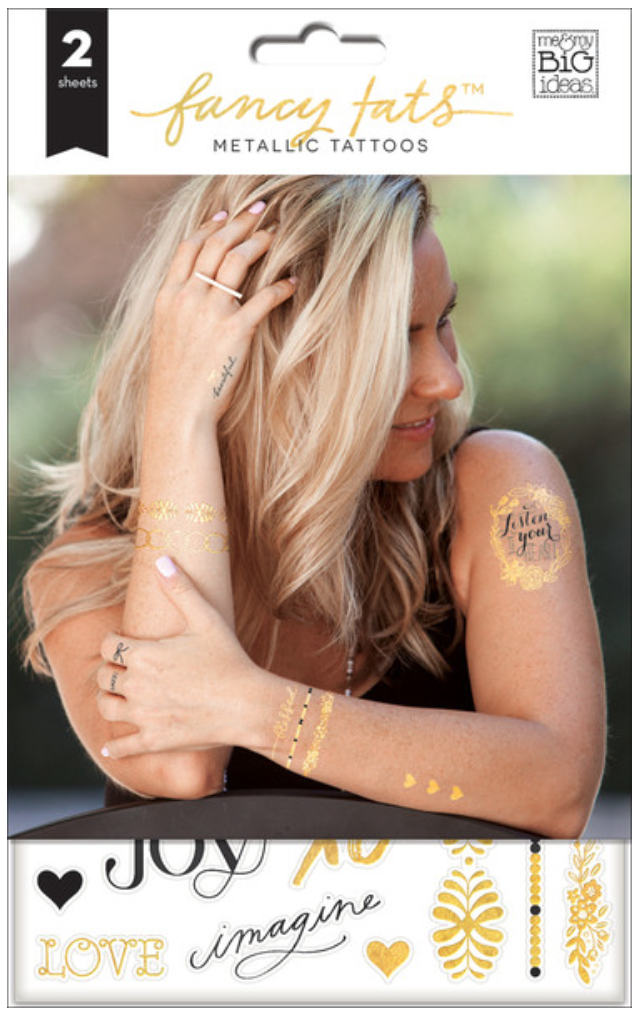 'Grateful' Fancy Tats™ Metallic Tattoos™ | me & my BIG ideas
