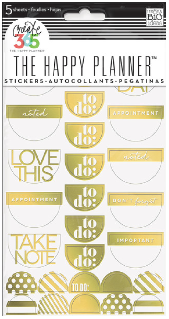 Gold Foil To Do stickers for Create 365™ The Happy Planner™ | me & my BIG ideas