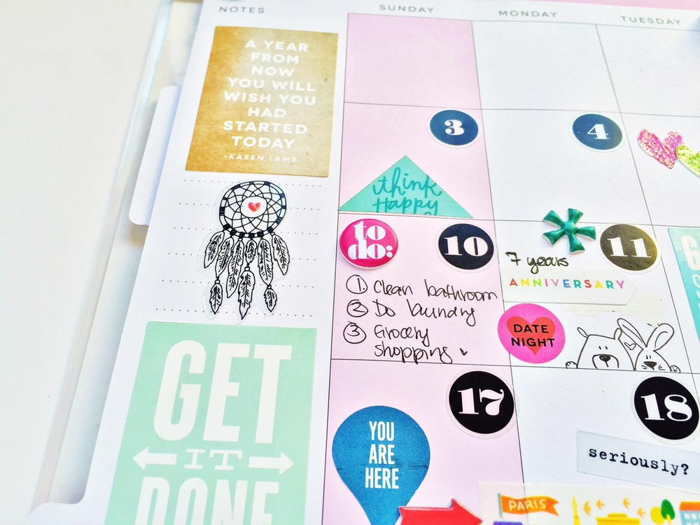 A happy colorful happy planner monthly may spread by for Planner design ideas