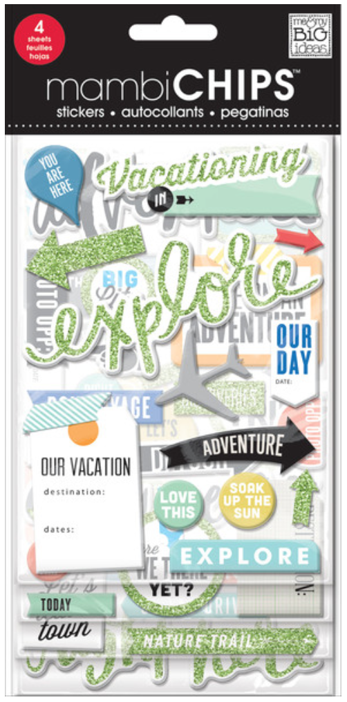 'Vacation' mambiSTICKS chipboard stickers | me & my BIG ideas