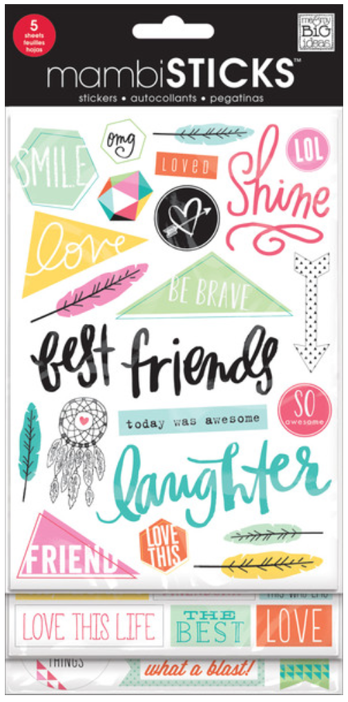 'Best Friends' mambiSTICKS sticker pad | me & my BIG ideas