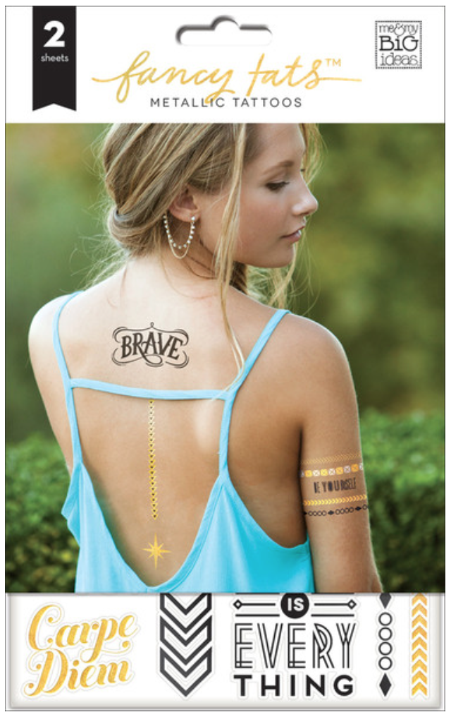 'Be Brave' Fancy Tats™ Metallic Tattoos | me & my BIG ideas