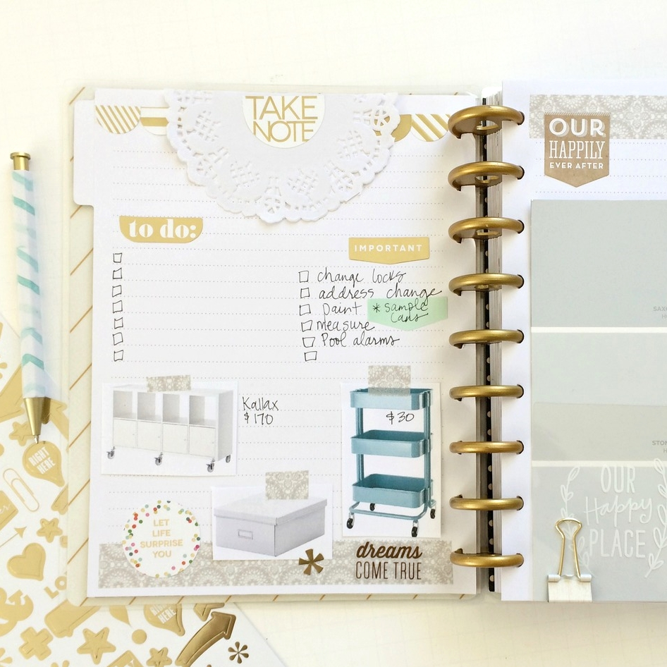 using The Happy Planner™ as a home remodel organizer