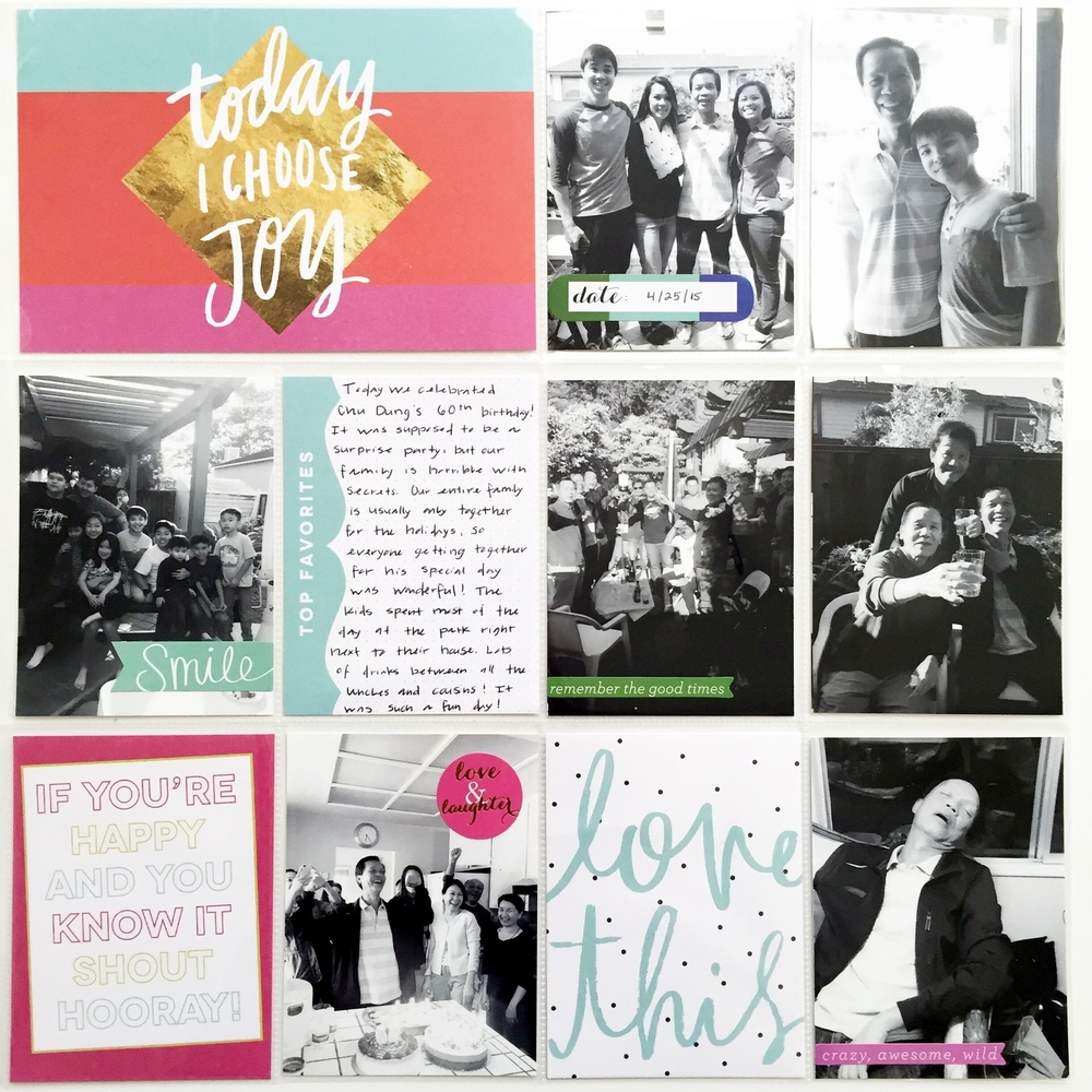 'Today I Choose Joy' birthday celebration POCKET PAGES™