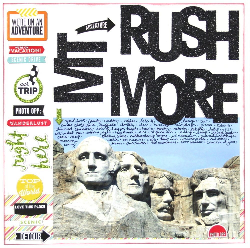 'Mt. Rushmore' scrapbook page