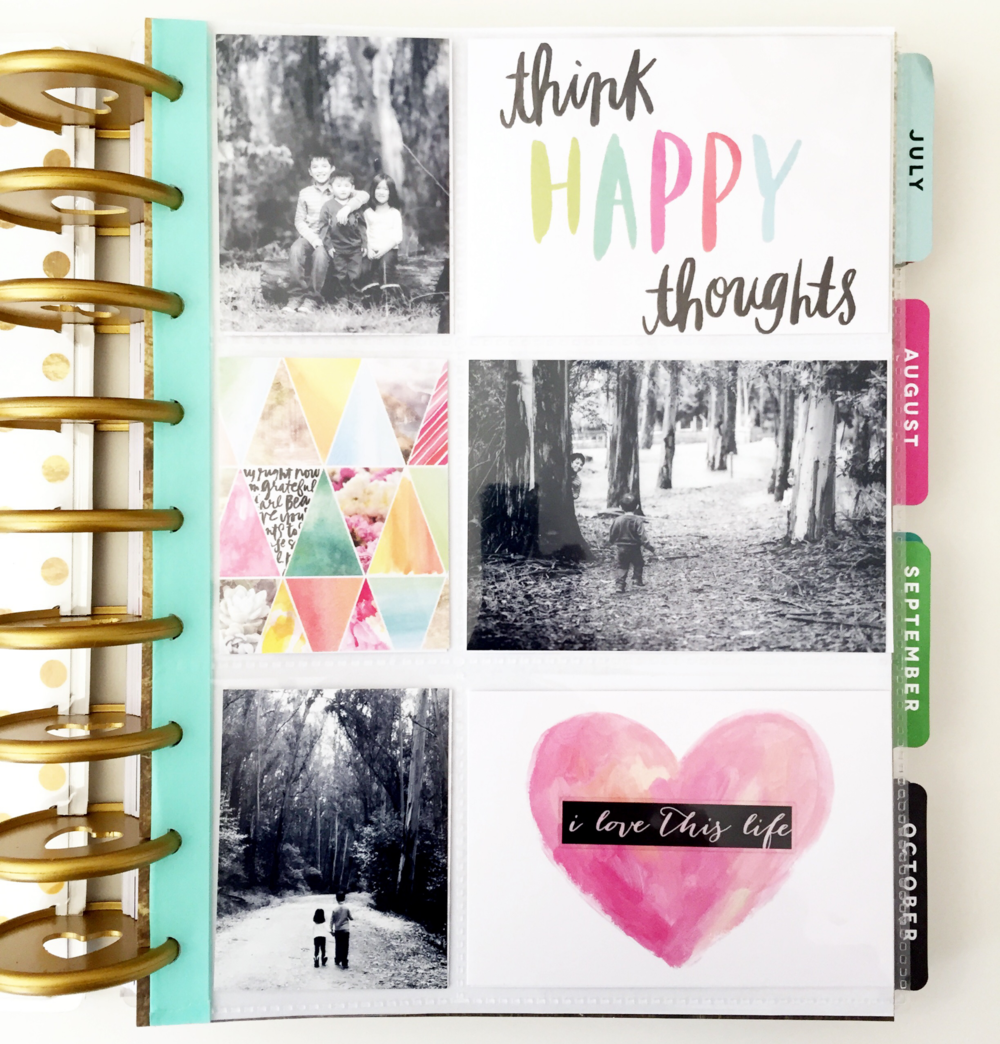 A pocket pages dashboard in the happy planner of mambi for Me my big ideas planner