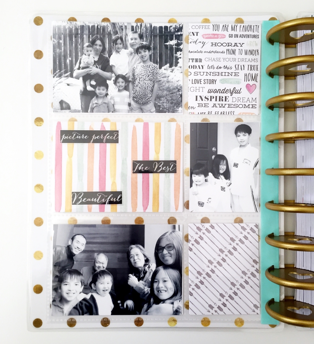 a POCKET PAGES™ dashboard in The Happy Planner™ of mambi Design Team member Theresa Doan | me & my BIG ideas