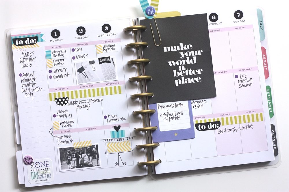 the first M-T-W of June in The Happy Planner of mambi Design Team member April Orr | me & my Big ideas