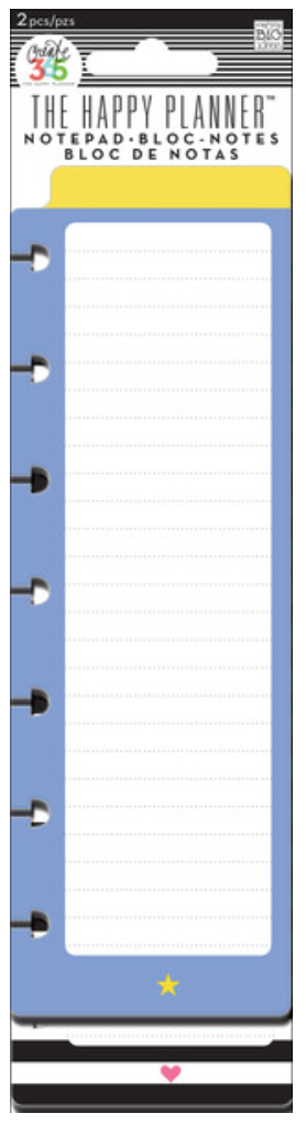 'Star & Heart' notepad for Create 365™ The Happy Planner™ | me & my BIG ideas
