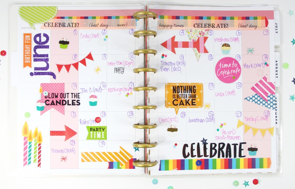 The happy planner birthday anniversary planner me for Happy planner ideas