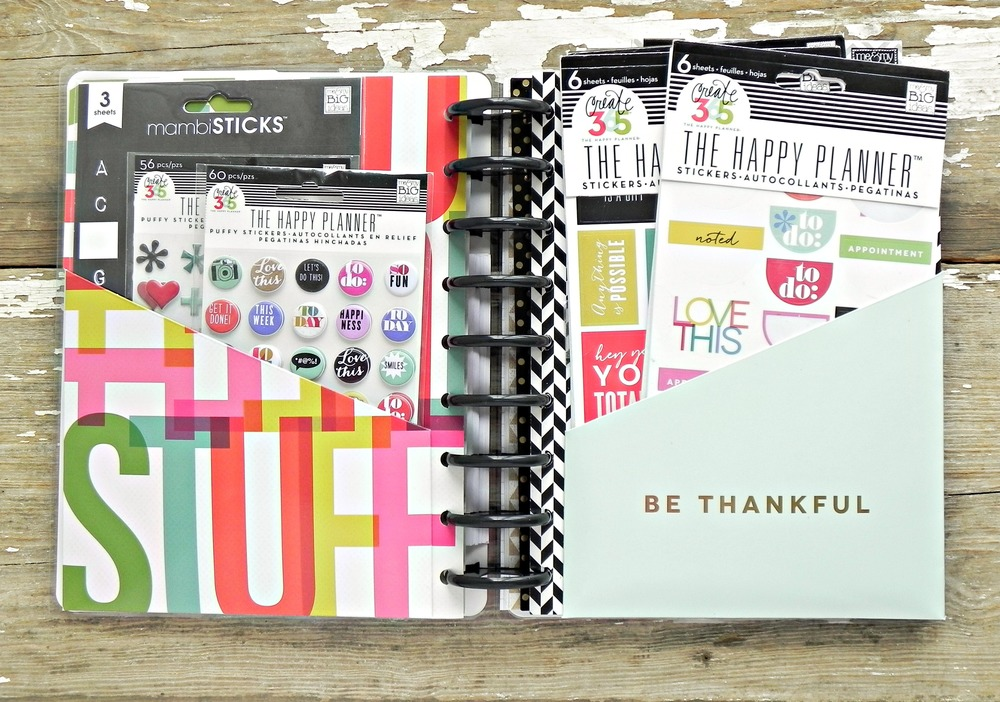 a separate book for Happy Planner™ supplies (!!!) created by mambi Deisgn Team member Stephanie Buice | me & my BIG ideas
